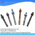 China 4.8 de acero al carbono galvanizado m10x140 ancla de la cuña