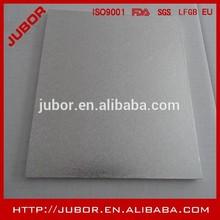 Papel de aluminio de plata square torta que adorna