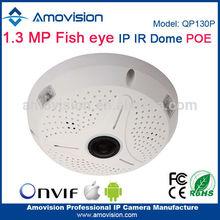 Amovision Fish Eye QP130P Support Onvif P2P H.264 1.3 MP 360 degree Panoramic Sony 238 CMOS fisheye lens camera dome