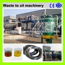 Hydraulic feeding system waste tyre oil pyrolysis plant 50% high oil yield no pollution