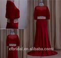 Fábrica profissional do laço- modelada a mãe da noiva vestidos de renda marrom longo