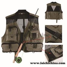 Mesh back design super light and breathable fly fishing vest