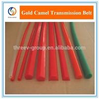Green Orange Transparent PU round belt Polyurethane drive belt smooth and rough surface