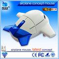 personalizado avión inalámbrico ratón de la computadora ratón óptico inalámbrico de ratón de lujo para las computadoras