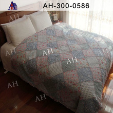 Printed Microfiber Fabric and Cotton Quilt