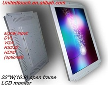22 inch wide multi touch screen LCD monitor with HDM I/DVI/VGA input