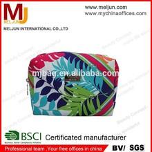 beautiful unique promotional floral-print cosmetic bag