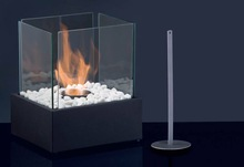 Glass Bio ethanol table top fireplace/fuel fireplace/metal fireplace,indoor and outdoor use/ WY813B-1