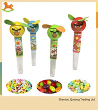 Fan plstic candy tube /summer candy toy /electronic fan candy toy