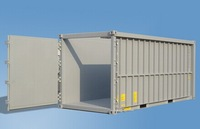 20ft and 40ft curtain side container