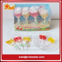 Fruity Flavor Apple Shaped Sweet Hard Lollipop