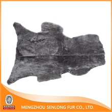 Colorful Sheep Skin Dyed Mouse Gray