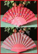 Plastic hand fan Dot design wholesale