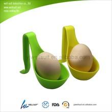 New design food grade silicone cooking egg holder