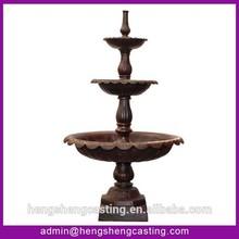 3 tier garden cast iron water fountains