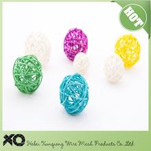 5cm colorful rattan wire ball/decorative ball