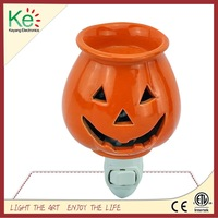 Keyang Pumpkin Ceramic Plug in Candle Warmer fragrance wax warmer scent oil warmer for Halloween