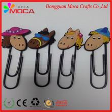 New Design cheaper PVC/silicone students' supply fashion 3D paper clip