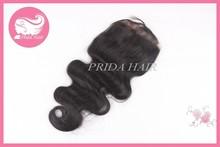 High quality no tangle mongolian lace closure 6A grade body wave top closure 100% human hair closure wholesale