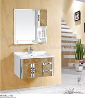 apartment bathroom vanity modern PVC wall mounted cabinet 2162