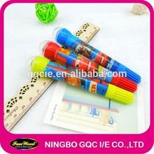 Colorful marker with stamper,roller stamper marker,water color pen,customized marker