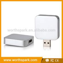hot sale, square shape silver 8gb 16gb usb flash drive
