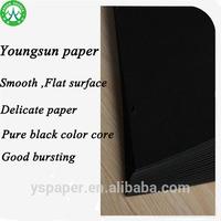 Great quality thin black paperboard/black cardboard manufacturer
