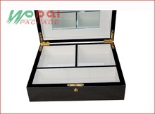 Made in China wooden jewellery box with checked pattern