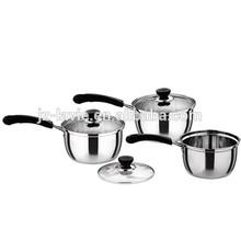 cookware set 6pcs stainless steel cooking pot saucepans