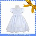 Beau blanc 3- pièce à manches courtes en dentelle fille robe de première communion