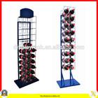 Multi-tier heavy duty plastic bottle display rack/bottle display/bottle display stand