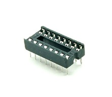 Wide DIP DIP16 16p IC Sockets Adapter Solder Type Pitch 2.54mm
