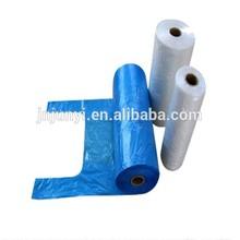 Plastic t-shirt roll bag for packing dog poop