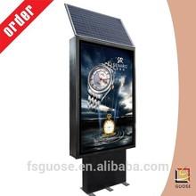 waterproof solar led street light led board display light up picture frame solar advertising billboard standing light box