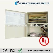 Metal Housing Waterproof Power Supply DC 12V 10A 18CH CCTV Power Transformer