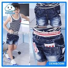 Summer short pants kid jean denim short kids jeans pattern