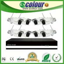 multifunction digital 4ch h.264 cctv ip camera nvr kit
