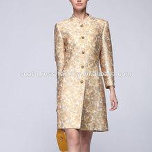 2015 Elegant new style fashion printed wholesale long women coat