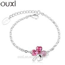 2015 Women lucky crystal bracelet jewelry made with Swarovski Elements Jewelry OUXI-30223
