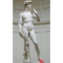 stone David statue,famous figure sculpture,nude man statue