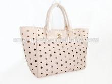 High Quality Fancy Pink Star Laser PU Ladies Handbag