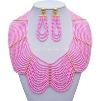 Pink Crystal Bead jewelry Ail Express Imitation Jewelry Set Bulk Buy From China Bead Set