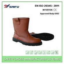 High cut SF6860 dark brown acid resistant work boots
