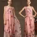 Casual kleider guangzhou großhandel ärmelloses maxi kleider elegant damen langen sommer mode frauen kleiden 2015(5253)