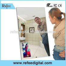 32 - 55 inch Wall Mounted mirror lcd advertising tv / mirror lcd digital signage / motion sensor magic mirror