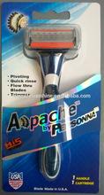 five blade razor stainless blade with metal razor handle