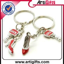 art and craft metal customized key shape metal keychain