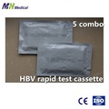 One step hepatite B HBV kits de teste rápido