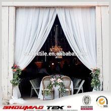 Poly chiffon white window curtain