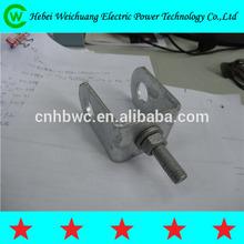 "High Quality "" D"" - Galvanized Mild Steel Irons for U Shackle Insulators / Power D Iron Bracket"